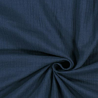 Muslin Plain 3 – navy blue