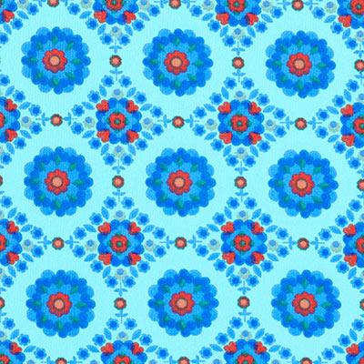 Softshell Fleur Mystique 1 – aquablauw