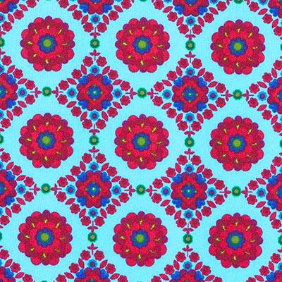 Softshell Fleur Mystique 2 – aquablauw