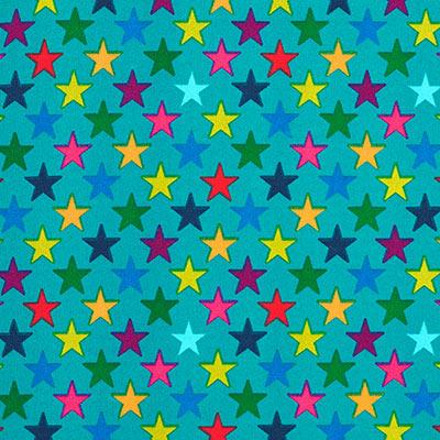Softshell bonte sterren 3 – turkoois