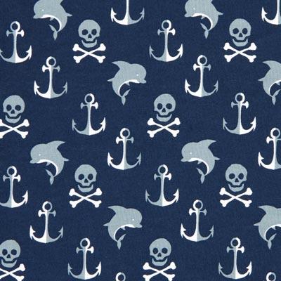 Katoenen stof piraten oceaan 1 – blauw