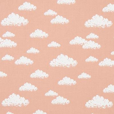 Katoenen stof Pastel Clouds 2 – oudroze
