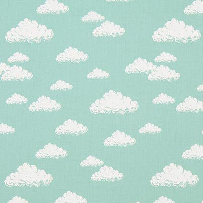 Katoenen stof Pastel Clouds 1 – riet