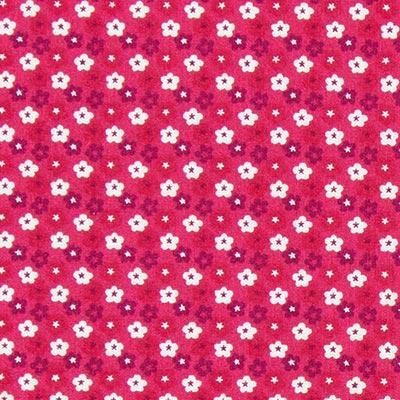 Tela de algodón Mini flores 8 – rojo