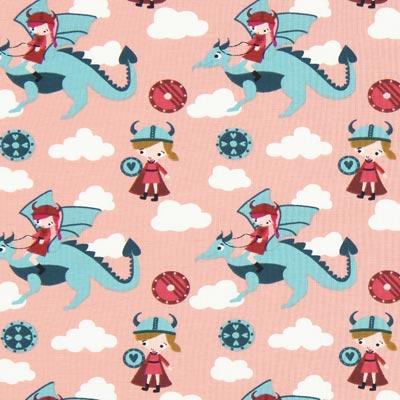 Tela de jersey Elfo dragón 1 – rosa