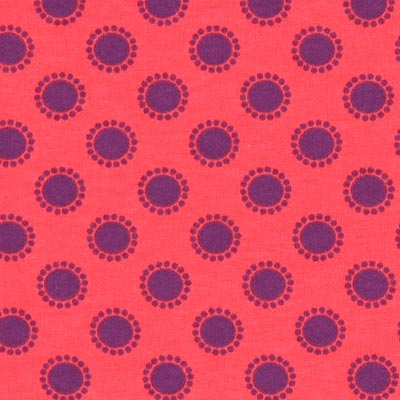 Katoenjersey stippenbloemen 1 – rood