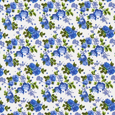 Tela de algodón Rosas 4 – azul