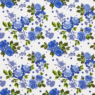 Tela de algodón Rosas Duo 4 – azul