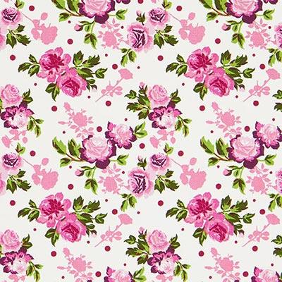 Tela de algodón Rosas Duo 1 – lila