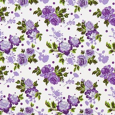 Tela de algodón Rosas Duo 3 – lila