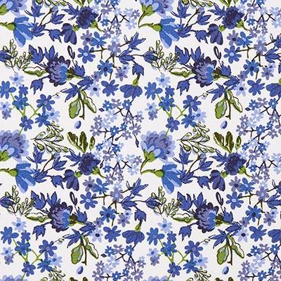 Tela de algodón Rosas Vienna 4 – azul
