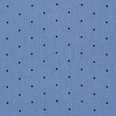 Mousseline stippen 2 – jeansblauw