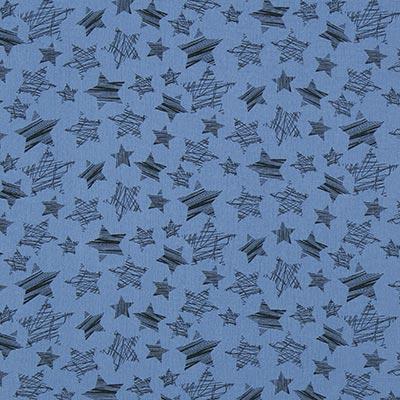 Muselina Estrellas 2 – azul vaquero