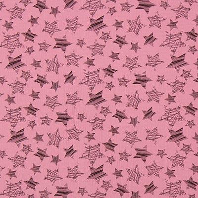 Muslin Stjärnor 4 – gammalt rosa