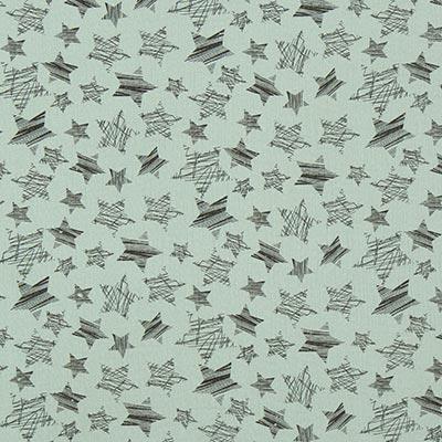 Muselina Estrellas 7 – verde lima
