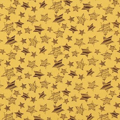 Muslin Stjärnor 8 – senap