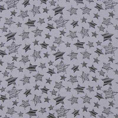 Baby-mousseline sterren 12 – grijs