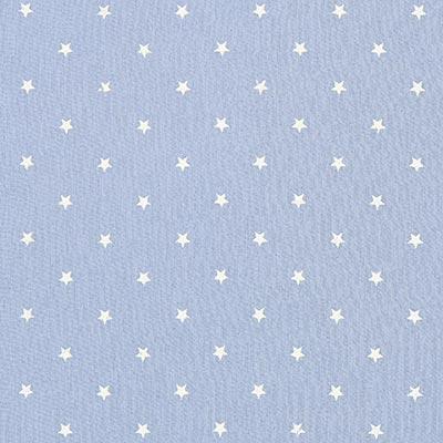 Baby-mousseline witte sterren 1 – lichtblauw