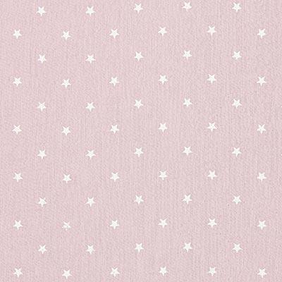 Baby-mousseline witte sterren 3 – roos