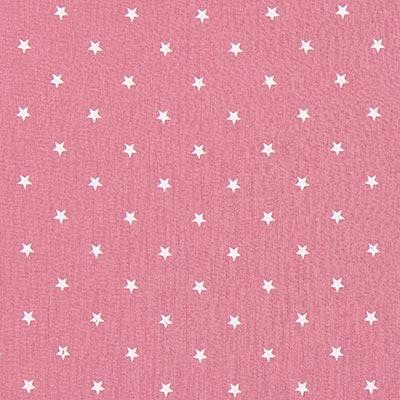 Baby-mousseline witte sterren 4 – oudroze