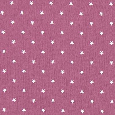 Baby-mousseline witte sterren 5 – violet