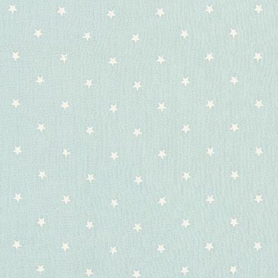 Baby-mousseline witte sterren 6 – mintgroen