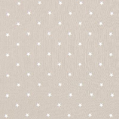 Baby-mousseline witte sterren 9 – beige