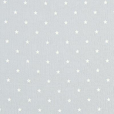 Baby-mousseline witte sterren 11 – lichtgrijs
