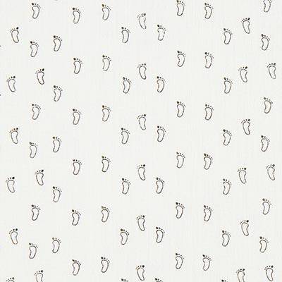 Dubbel crincelweefsel / mousseline Babyvoet 3 – wit