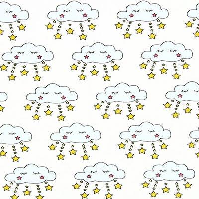 Tela de jersey Sueño de las nubes – azul claro