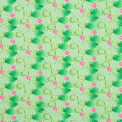 Digital Cactus Poplin – green