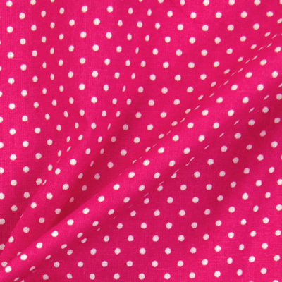25 new dotted cotton fabrics: white dots on different colors