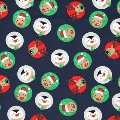 Baumwollstoff Weihnachtszoo 1