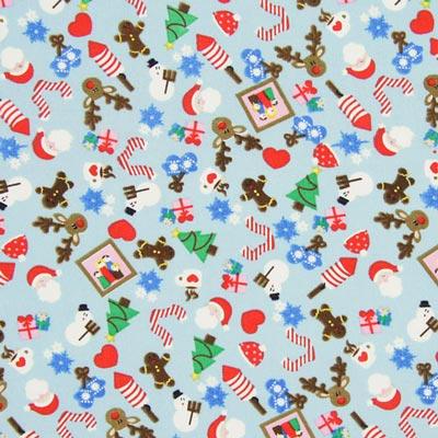 Baumwollstoff süße Weihnachten 3