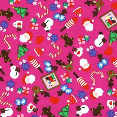 Baumwollstoff Sweet Weihnachten 1 - pink