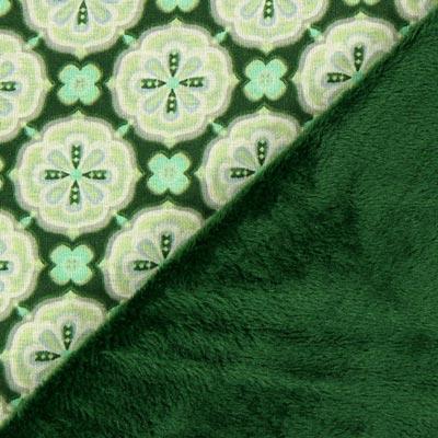 Alpenfleece Bloemenornament – groen