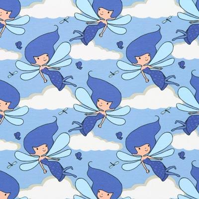 Jersey Single Hadas – azul claro