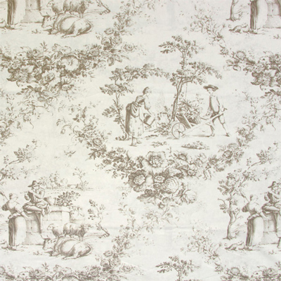 New 18 decoration fabrics in a toile de jouy style - Papel pintado toile de jouy ...