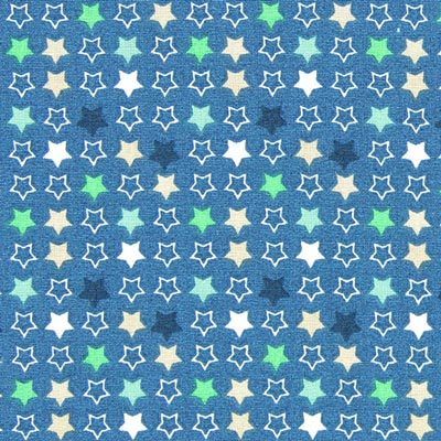 Cretonne ster Constella 2 – blauw