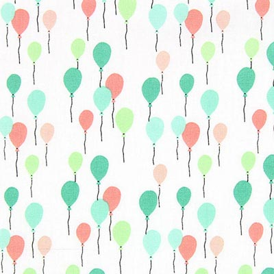 Cretonne luchtballons Envol 1
