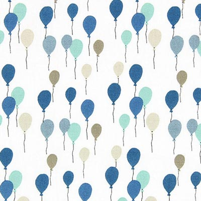 Cretonne luchtballons Envol 2 – blauw