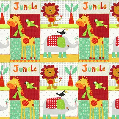 Jungle Animals 1 Cretonne – orange