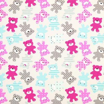 Teddy Bears Cretonne 1 – pink