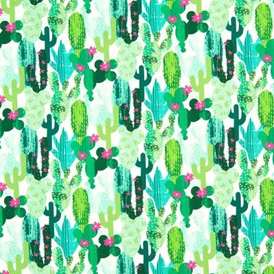 Cretonne Kaktus  – mintgrün
