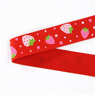 Ripsband Strawberry 1