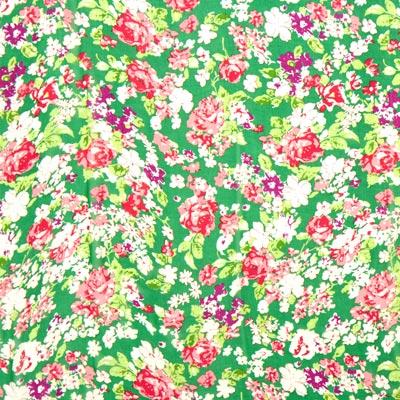 Crêpe chiffon bloemenparadijs 3 – groen