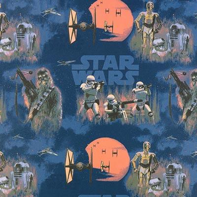Star Wars dekostof Stormtrooper – blauw