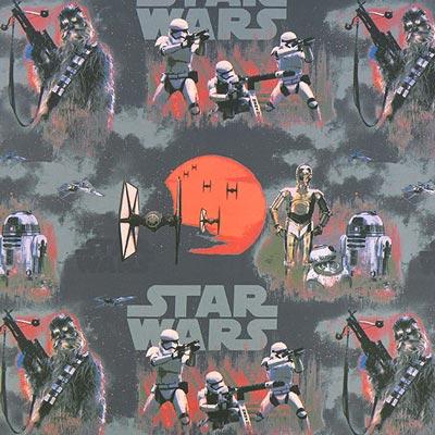 Star Wars dekostof Stormtrooper – grijs