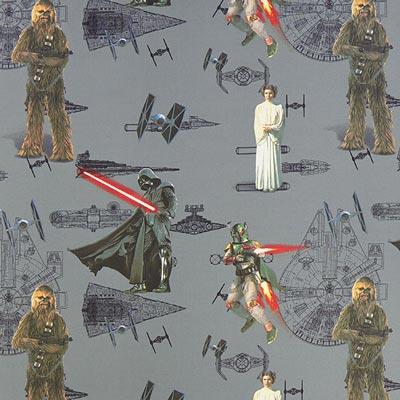 Star Wars dekostof De macht – grijs