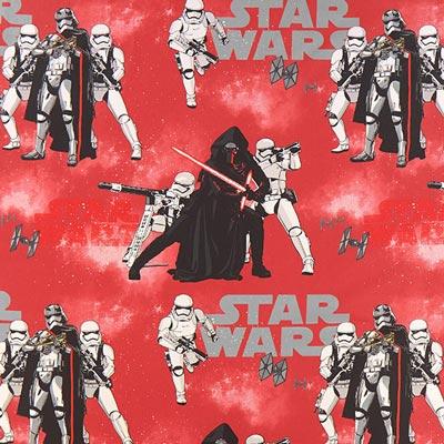 Star Wars dekostof Kylo Ren – rood